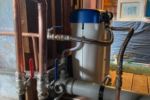 commercial water softener fitting