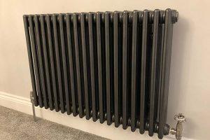 column radiator chrome pipe installation
