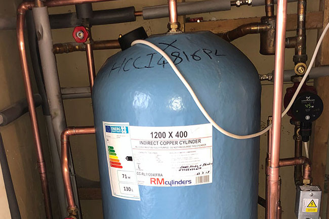 hot water cylinder replacement longfield