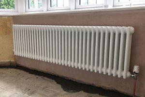 radiator installation new barn
