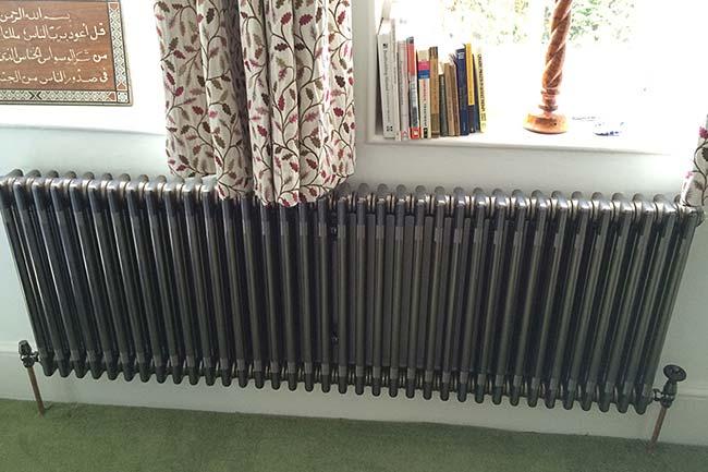 column radiator installation chislehurst