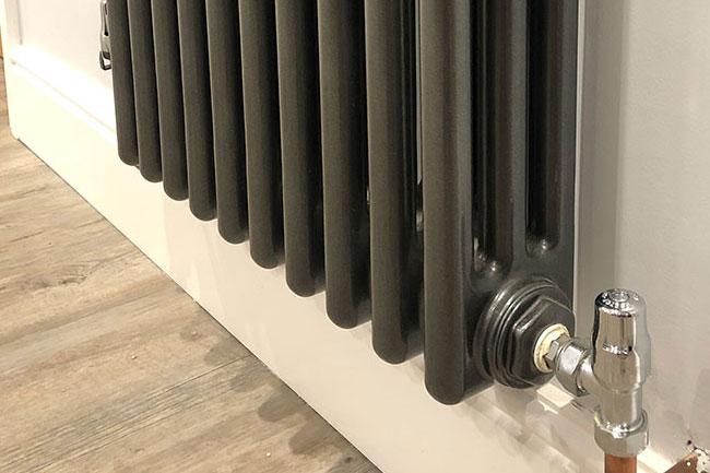 vertical column radiator installation new barn