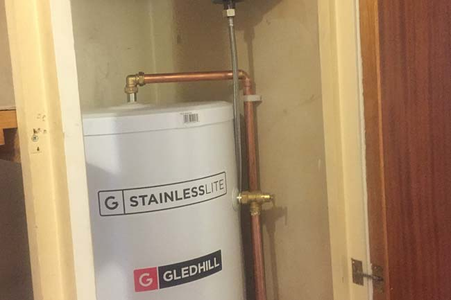 hot water cylinder installation sidcup
